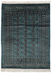 Pakistan Bukhara 2Ply Covor 124X162 Orientale Lucrat Manual Negru/Întuneric Turquoise (Lână, Pakistan)