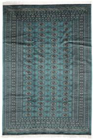 Pakistan Bukhara 2Ply Covor 183X264 Orientale Lucrat Manual Întuneric Turquoise/Negru (Lână, Pakistan)