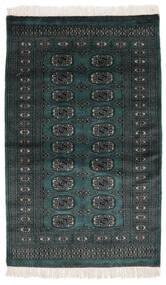 Pakistan Bukhara 2Ply Covor 91X152 Orientale Lucrat Manual Negru (Lână, Pakistan)