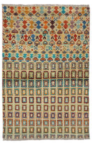 Moroccan Berber - Afghanistan Covor 92X142 Modern Lucrat Manual Verde Închis/Întuneric Turquoise (Lână, Afganistan)