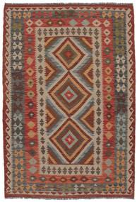 Chilim Afghan Old Style Covor 132X192 Orientale Lucrate De Mână Maro Închis/Maro (Lână, Afganistan)