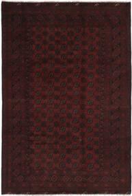 Afghan Covor 194X295 Orientale Lucrat Manual Negru (Lână, Afganistan)
