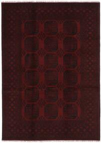 Afghan Covor 201X285 Orientale Lucrat Manual Negru (Lână, Afganistan)