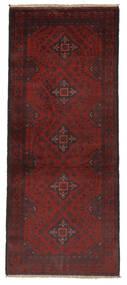 Afghan Khal Mohammadi Covor 79X198 Orientale Lucrat Manual Negru/Bej-Crem (Lână, Afganistan)