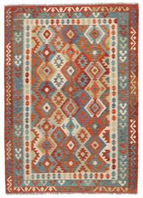 Chilim Afghan Old Style Covor 174X243 Orientale Lucrate De Mână Maro Închis/Roșu-Închis (Lână, Afganistan)