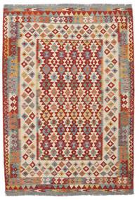 Chilim Afghan Old Style Covor 170X247 Orientale Lucrate De Mână Maro Închis/Roșu-Închis (Lână, Afganistan)