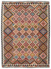 Chilim Afghan Old Style Covor 178X240 Orientale Lucrate De Mână Maro Închis/Negru (Lână, Afganistan)